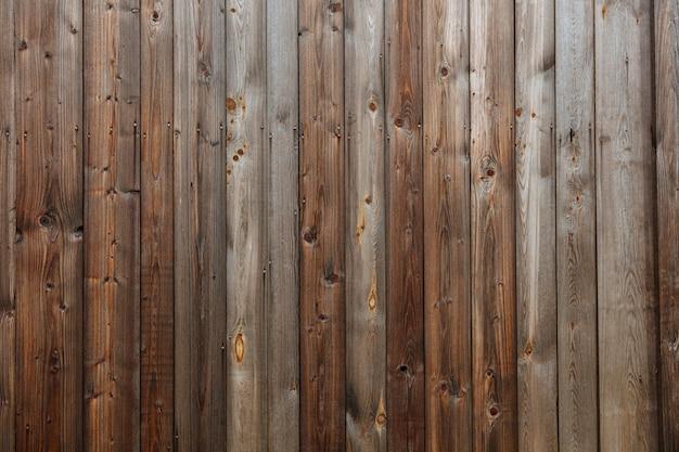 Modèle abstrait de vieux mur en bois foncé