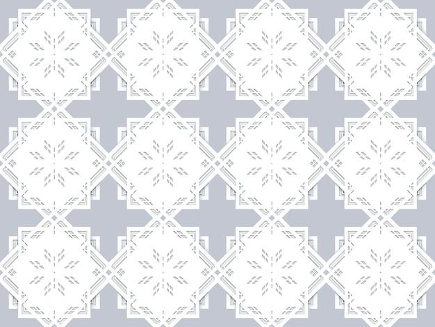 Modèle d'art carré sans soudure sur baackground gris.