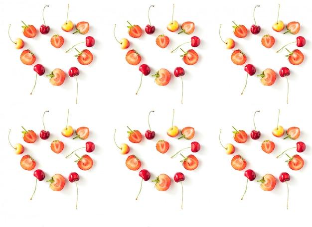 Modèle de baies de fruits de saison biologiques crus frais