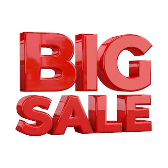 Modèle de bannière big sale, promotion spéciale big sale