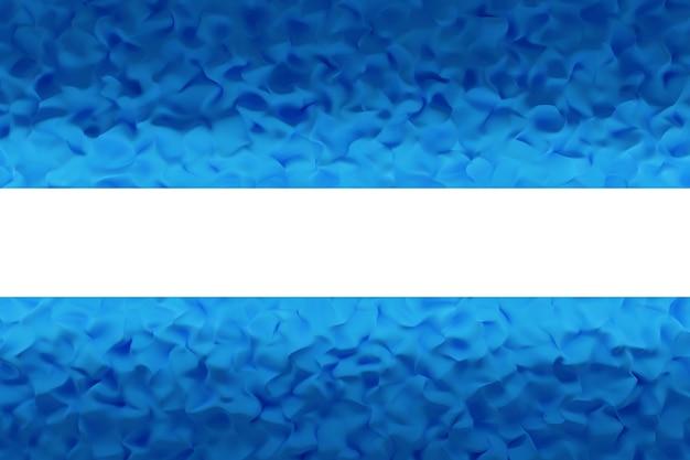 Modèle bleu illustration 3d dans un style ornemental géométrique avec faisceau de néon.