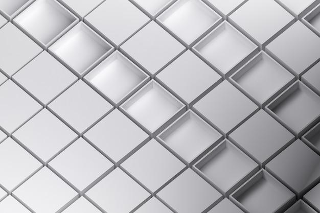 Modèle avec des boîtes blanches ouvertes et fermées