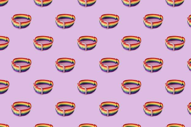 Modèle de bracelet lgbt avec boucle
