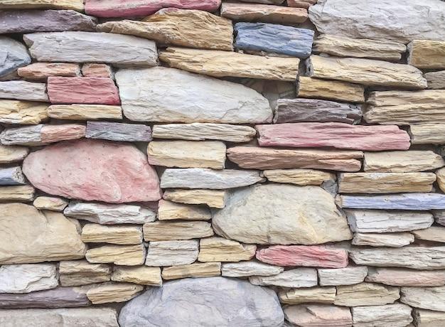 Modèle de brique de surface agrandi au vieux fond de texture de mur de brique en pierre de couleur