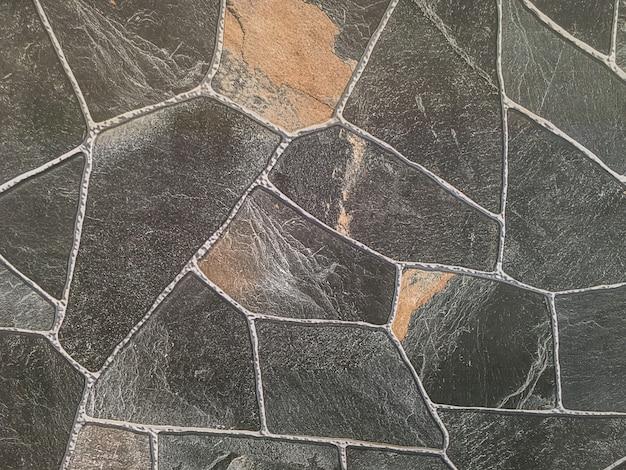 Modèle de brique de surface agrandi au vieux fond de texture de mur de brique en pierre noire