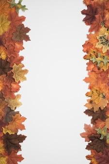 Modèle de cadres latéraux de feuillage d'automne