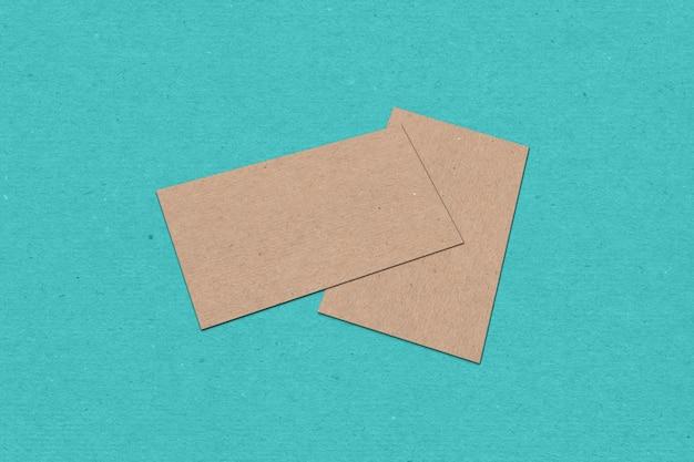 Modèle de carte de visite, carte de visite sur fond texturé couleur