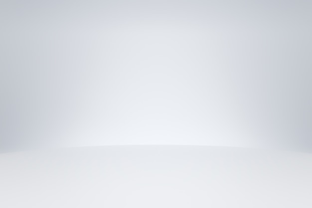 Modèle de chambre studio blanc sur fond vide avec concept moderne. toiles de fond d'affichage de produits pour la conception. rendu 3d.