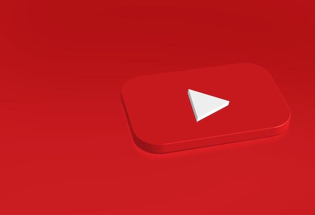 Modèle de conception simple de logo youtube