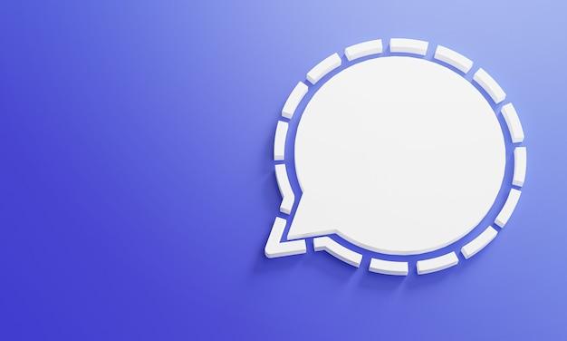 Modèle de conception simple minimal de logo de médias sociaux. copier l'espace 3d
