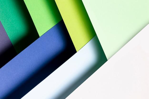 Modèle de couleurs froides avec vue de dessus