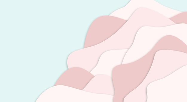 Modèle de coupe de papier pastel
