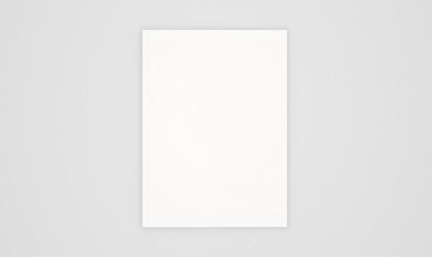 Modèle de couverture de livre blanc isolé sur blanc