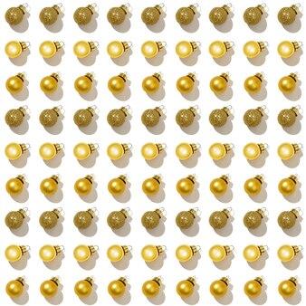 Modèle créatif régulier sans couture avec petites boules de noël dorées brillantes