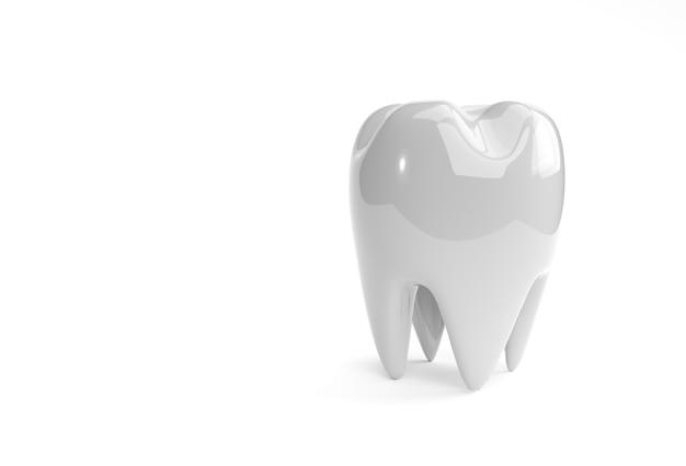 Modèle dentaire de rendu 3d de la dent prémolaire.