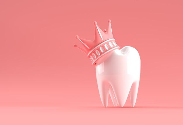 Modèle dental king de rendu 3d de la dent prémolaire.