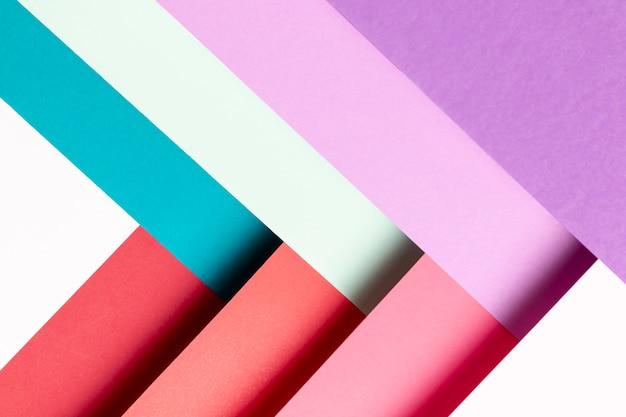 Modèle avec différentes couleurs gros plan