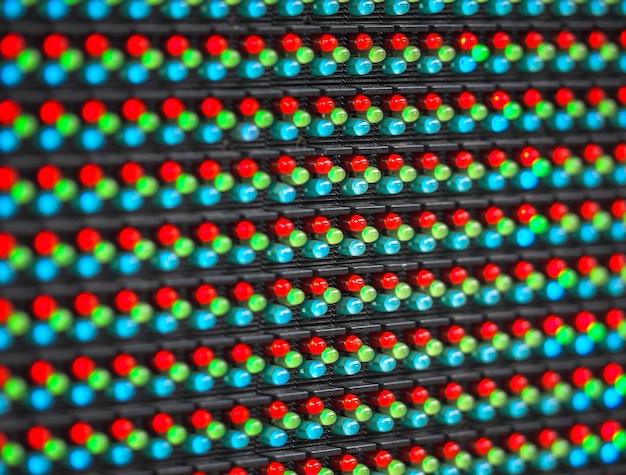 Modèle d'écran à led rvb pour le fond, concept numérique