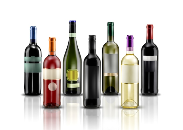 Modèle d'étiquettes de bouteille de vin