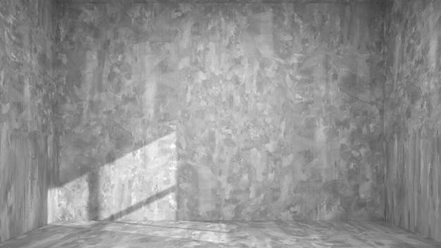 Modèle de fenêtres de plancher de mur en béton intérieur salon