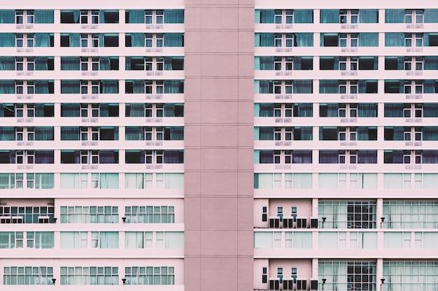 Modèle et fond de bâtiment moderne de grande hauteur