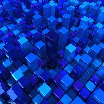 Modèle de fond de boîtes bleues à contraste élevé