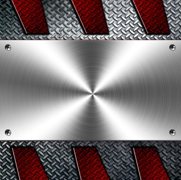 Modèle de fond de cadrage métallique moderne