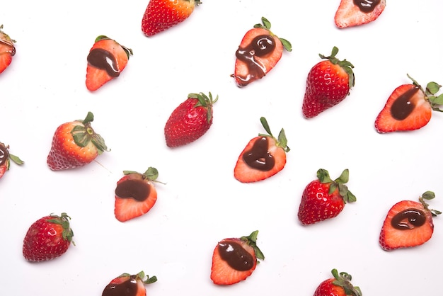 Modèle de fraise au chocolat