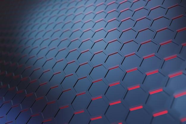 Modèle d'hexagone de vague futuriste