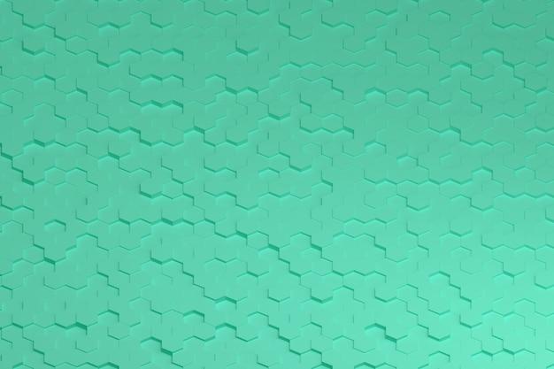 Modèle d'hexagones verts.