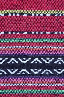 Modèle horizontal de textile coloré de la région du nord de la thaïlande
