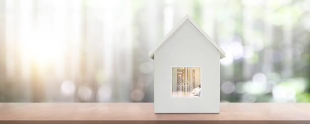 Modèle de maison il y a de l'espace. maison, concept immobilier de logement