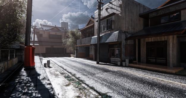 Le modèle de maison japonaise réaliste à l'ancienne