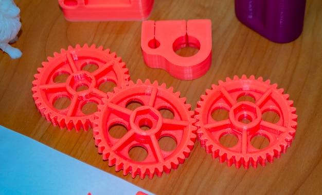 Modèle d modèle imprimé sur imprimante d à partir de plastique fondu à chaud