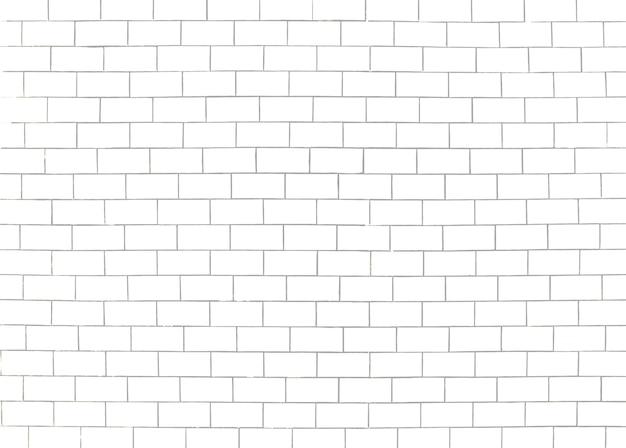 Modèle de mur de briques. fond de surface blanc et gris. construction de blocs et de ciment. texture de maçonnerie abstraite. conception de modèle d'illustration