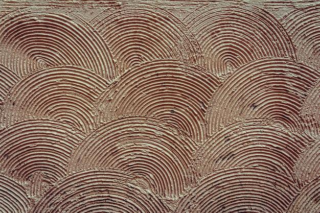Modèle de mur de cercle concentrique se chevauchant, ancien motif de texture de brique pour la décoration, entreprise de construction industrielle