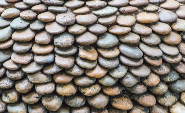 Modèle de mur de pierre de gravier