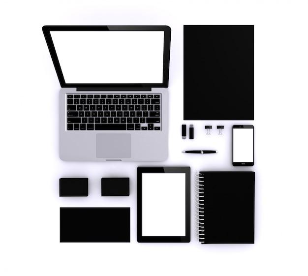 Modèle noir pour l'identité d'entreprise