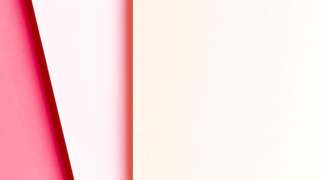 Modèle de nuances de rose vue de dessus avec espace de copie
