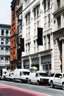 Modèle de panneau d'affichage en milieu urbain