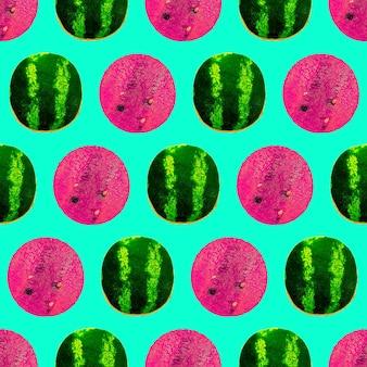 Modèle de pastèque de mode sans couture à utiliser pour les cartes de vœux tshirt papier d'emballage affiches tissu pri