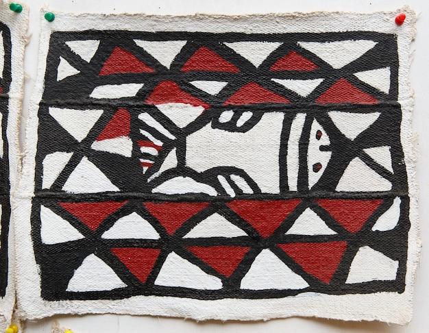 Modèle de peinture de style ghanéen sur tissu