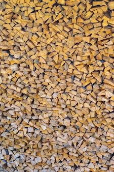 Modèle d'une pile sile de bois coupé