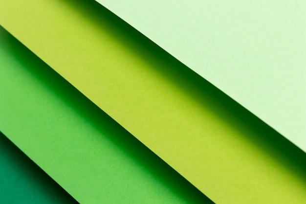 Modèle à plat avec des couleurs froides
