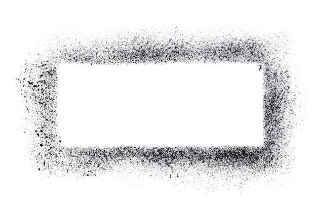 Modèle de pochoir rectangle isolé sur fond blanc