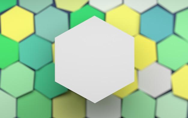 Modèle de présentation avec un grand hexagone vide blanc