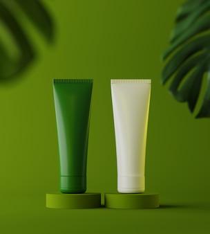 Modèle de présentation de produit cosmétique naturel