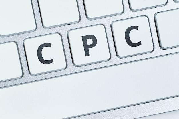Modèle publicitaire cpc au coût par clic appliqué sur internet.