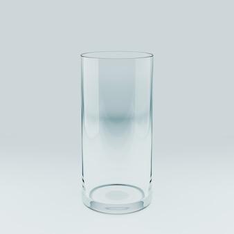 Modèle réaliste d'un verre transparent vide. illustration 3d.