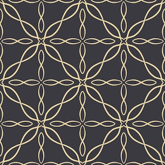 Modèle sans couture abstrait avec ornement de dentelle ornementale de tuile de motif de mosaïque. texture pour l'impression, le tissu, le textile, le papier peint.